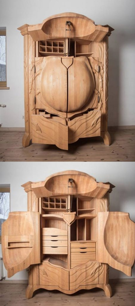 Amazing Closet with Beetle Sculpture