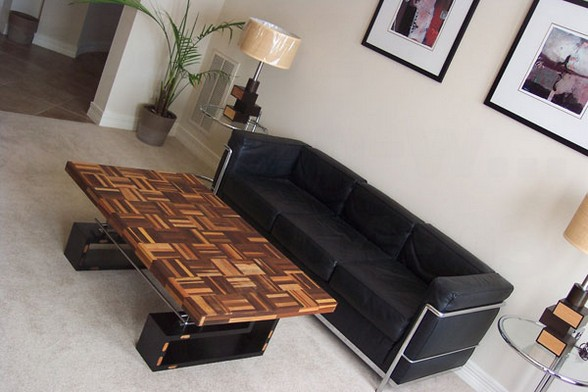 Modern wooded coffee table