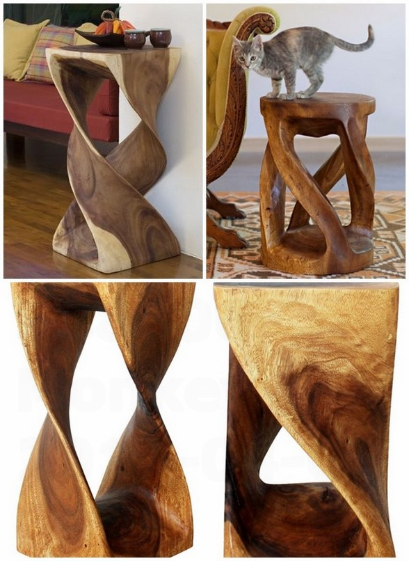Monkey pod tree furniture ideas original side tables