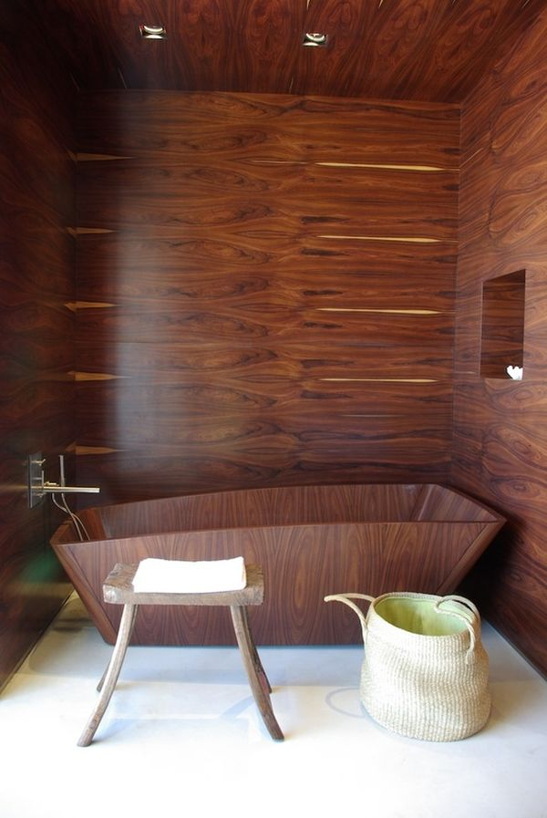 stylish and cozy wooden bathroom designs 1