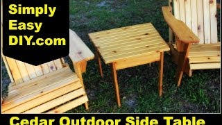 adirondack side table plans