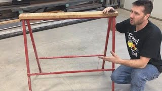 adjustable sawhorse diy igus slider