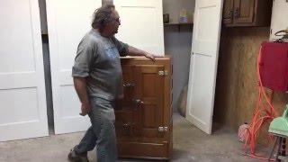 antique ice box hardware