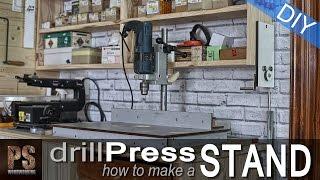 Best Bench Drill Press Stand Plans Woodworking Challenge