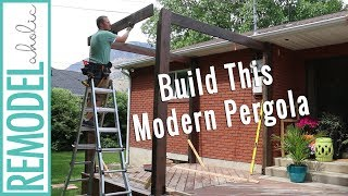 building a pergola for shade