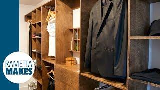building a wood closet organizer