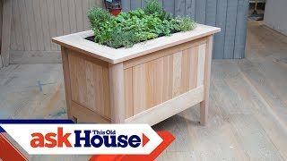cedar planter with trellis