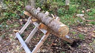 chainsaw sawhorse plans free
