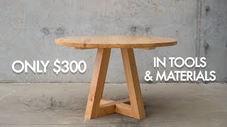cheapest circular dining table