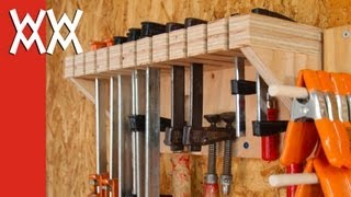 clamp storage rack plans