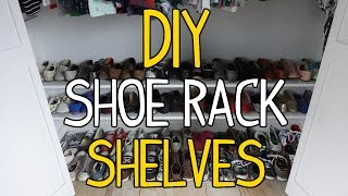 closet shoe storage diy