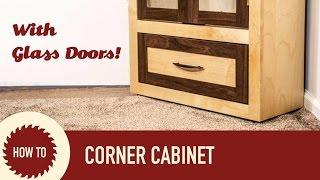 corner media cabinet with doors
