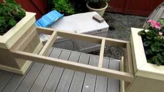 deck bench planter