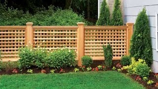 diamond lattice fence panels