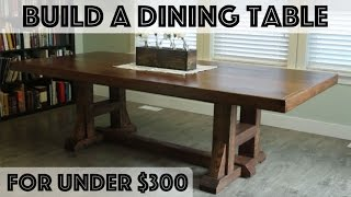dining room table design plans
