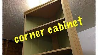 diy build a corner cabinet