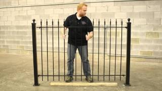 diy iron fence designs