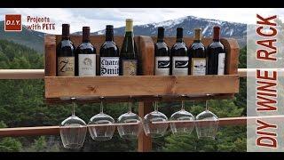 diy wine rack wood