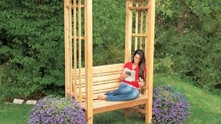 double bench arbor plans