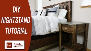 easy bedside table plans