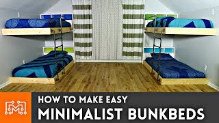 easy bunk bed plans