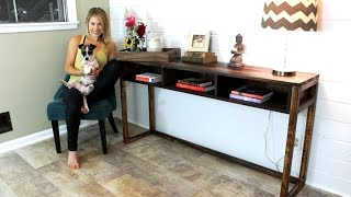 easy console table plans