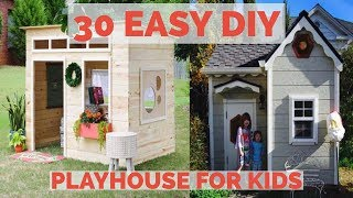 easy outdoor playhouse plans