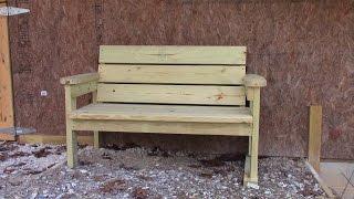 easy patio bench plans