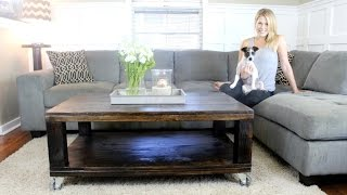 easy to build coffee table plans