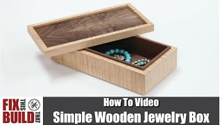 easy wood jewelry box plans