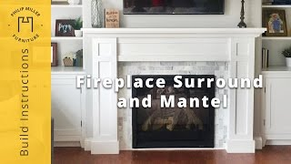 fireplace surround plans building