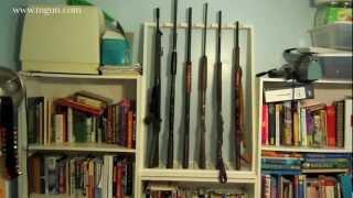 homemade gun rack plans