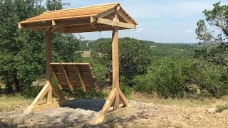 how to build a garden swing frame