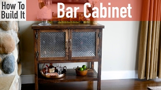 how to build a liquor cabinet