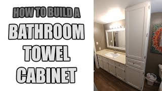 how to build a recessed linen cabinet