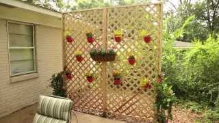 how to build a vinyl lattice screen