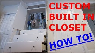 how to build dresser in closet