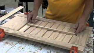 how to build wooden louvered shutters