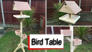 how to make a bird table plans