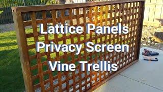 lattice screen panel