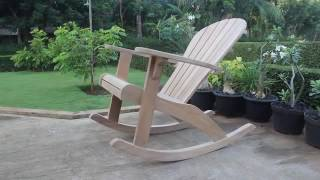 muskoka rocking chair plans