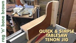 simple tenon jig table saw