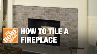 tiling over brick fireplace surround and hearth