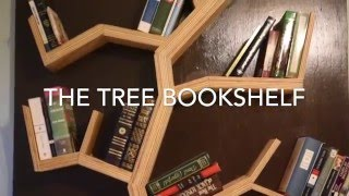tree bookshelf blueprints