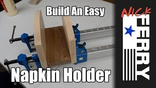 wood napkin holder plans