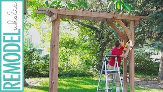 wooden arbor plans