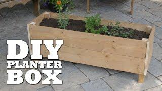 wooden deck planters plans