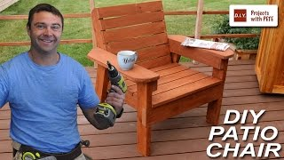 wooden patio chair plans free