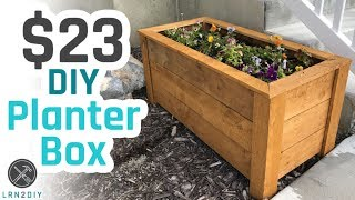 wooden planter plans free