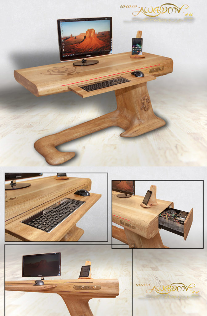 Compute Lizard Desk by Awadon